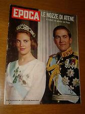EPOCA 1964/730=ANNA MARIA DANIMARCA COSTANTINO II GRECIA=GASTON SOUMIALOT SIMBA