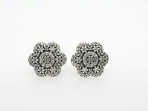 PANDORA Earring 290732CZ Crystalised Floral Earring Studs Retired RRP $89