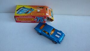 Vintage 1975 Matchbox Superfast No 4 Pontiac Firebird Blue Toy Car Collectible
