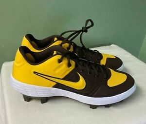 Men's Nike Alpha Huarache Elite 2 Baseball Cleats Low Yellow CV8108-200 Size 12