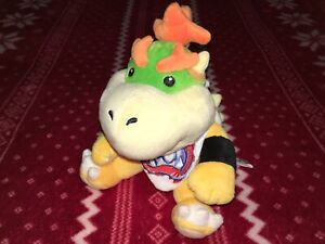"Official 7"" Sanei Super Mario BOWSER JR. Plush Nintendo Toy LITTLE BUDDY 2011"