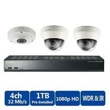 Samsung 1TB Nvr Poe de 4 canales con 3 cámaras de CCTV 3yr garantía sin signo de CCTV