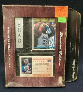 SHAQUILLE O'NEAL VINTAGE SPORTS PLAQUES SHAQ WITH 2 1993-94 TOPPS CARDS