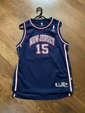 NBA AUTHENTIC Embroidered Vince Carter New Jersey Nets Jersey (Youth XL)