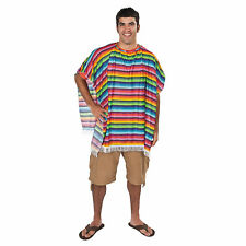 Fun Fiesta Mexican Poncho - Apparel Accessories - 1 Piece