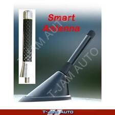 Smart Car Antenna Silver Carbon Stubby Aerial Fiat 500 Abarath 2007 onwards