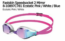 SPEEDO FASTSKIN SPEEDSOCKET MIRROR SWIMMING GOGGLES ECSTATIC PINK/BLUE RRP £36