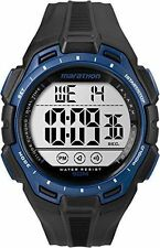 Mens Timex Marathon Indiglo Black Rubber Sports Alarm Digital Watch TW5K94800
