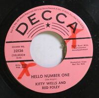 Country Promo 45 Kitty Wells And Red Foley - Hello Number One / Happiness Means