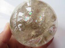 AA Natural Smoky Citrine Quartz Rainbows Ball Crystal Sphere Healing  602g