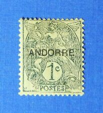 1931 ANDORRA FRENCH 1c SCOTT# 1 MICHEL # 2 UNUSED                        CS26063