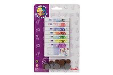Euro Spielgeld für Kaufladen, Kaufmannsladenzubehör, Scheine und Münzen Simba