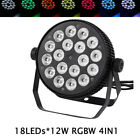 Professional DJ Stage Par Light RGBW 4in1 18LEDsx12W 4/8CH DMX512 Uplighting
