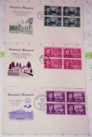 3 US SC# 930-932 President Franklin Roosevelt Issue Postage First Day Covers FDC