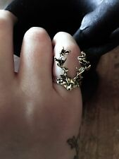 Norse Mythology Inspired Stag Little Finger Ring Pagan Faery Faerie From Norway