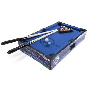 Chelsea FC 20 inch 8 Ball Pool Table Inc Balls Cues Chalk Rack Official Item
