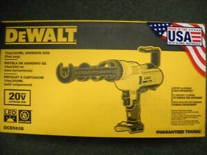 DEWALT DCE560B 20V MAX 10 oz 300 mL Adhesive Gun Tool Only NEW