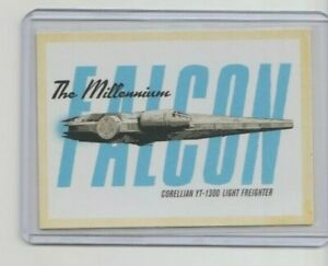 Solo Star Wars Story Vehicle Trading Card The Millennium Falcon #SV-2