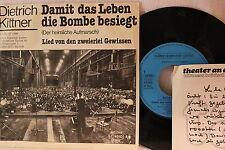Dietrich Kittner-per la vita la bomba sconfitto-Single 80er D-SF 2888