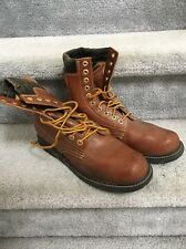 Ramrods Insulated Brown Leather Work Boots Size 10 Style # 46943