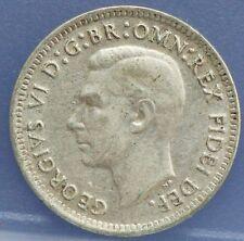 Australie - Australia three  3 pence 1950 , George VI Silver KM# 44