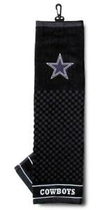 """Dallas Cowboys 16""""x22"""" Embroidered Golf Towel [NEW] NFL Golfing Cotton"""