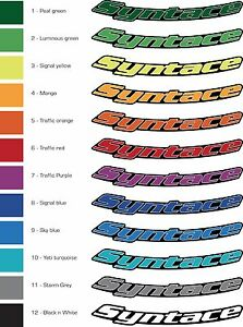 Syntace Wheel Decals- Reproduction Decals