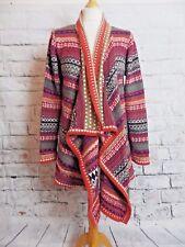 Chaqueta de estilo boho una inusual Per Talla 16 Naranja Multi Cascada M&S Hippie
