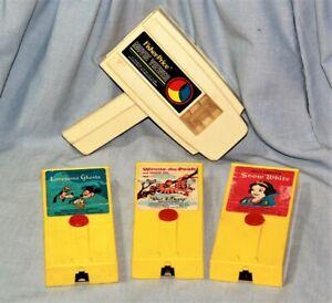Vintage FISHER PRICE Movie Viewer with 3 Disney Cartridges - NICE!