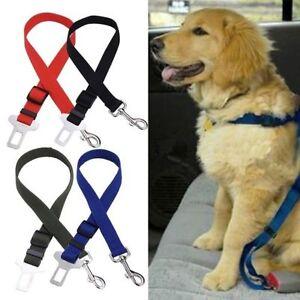 UK Pet Big/Small Dog Car Travel Safety SeatBelt Adjustable Lead Restraint Clip