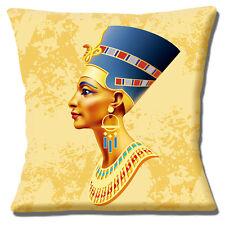 Reina Egipcia 40.6cmx40.6cm 40cm Funda De Cojín Azul Tocado Joyería Oro SHADES
