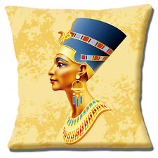 "Egiziana REGINA 16 ""x16"" 40 CM CUSCINO BLU HEADDRESS gioielli Tonalità Oro"