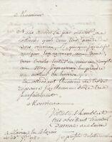 Lettre XVIIIe 1780 Cleyrac Blaye Gironde Barrique Vin Bois Merrain Merranderie