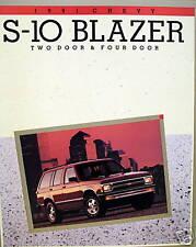 1991 Chevrolet S-10 Blazer SUV new vehicle brochure