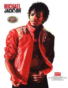 Michael Jackson Beat It Jacket Red Fancy Dress Halloween Deluxe Adult Costume