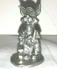 Handcrafted Pewter Masonry Bunny Rabbit Miniature Figurine Usa