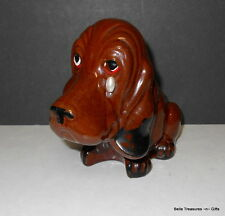 Vintage Enesco Red Ware Clay Pottery Puppy Dog Planter with Tear Drop Eye