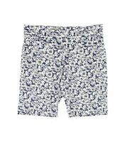 Tribal Womens Shorts White Blue Size 6P Petite Bermuda Floral Pull On $64 419