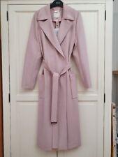 Ted Baker JOSEETE coat, pink, long belted felt wrap, size 3 12, £299