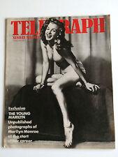 "Marilyn Monroe ""The Young Marilyn"" UK Sunday Telegraph 1984 Magazine Earl Moran"