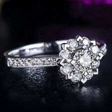 1ct Snowflake Cz Wedding Band Women's Jewelry 925 Silver Engagement Ring Sz 4-9