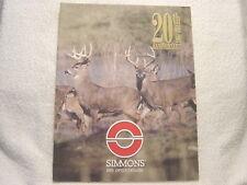 SIMMONS SCOPE OPTICS 2003 gun shooting catalog
