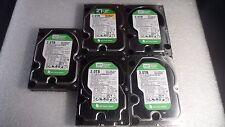 Lot of 5 - Western Digital WD20EARS 2TB  Desktop Hard Drive