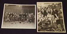 1950's - AS DE SALABERRY, QUEBEC - HOCKEY TEAM - 0RIGINAL - PHOTOS (2)
