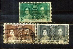 1937 Nyasaland Coronation Complete Set