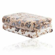 2 Pack Puppy Blanket for Pet Cushion Small Dog Cat Bed Soft Warm Brown/White
