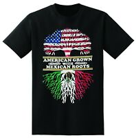 AMERICAN GROWN WITH MEXICAN ROOTS MEN T-SHIRT