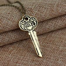 Sherlock Holmes Key Schlüssel Nacklace Kette Baker Street Halskette 221B Schmuck