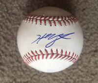 HUNTER RENFROE Signed Autographed BASEBALL BALL Tampa Bay Rays Auto