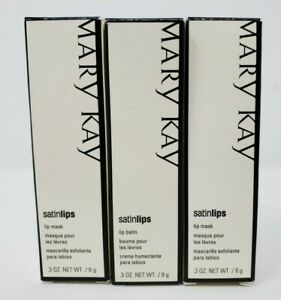 MARY KAY SATIN LIPS MASK~DISCONTINUED FORMULA Lot of 3 072685